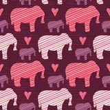 Purple and Pink Kids Baby Elephants Silhouette vector illustration