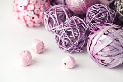 Purple and pink  objects Royalty Free Stock Photography
