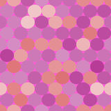 Purple,pink and orange vector seamless pattern with circles. Stock Photography