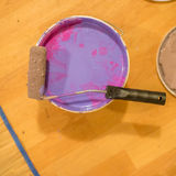 Purple and pink paint colors Stock Image