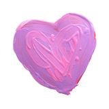 Purple and pink painted heart Stock Image