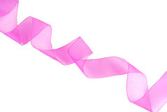 Purple pink ribbon wavy Stock Images
