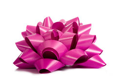 Purple or Pink Ribbon on white stock photo