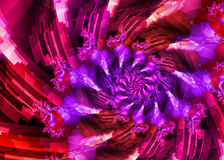 Purple Pink Spiral Royalty Free Stock Photo