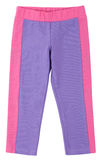 Purple-pink sweatpants isolated on white Stock Photo
