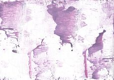 Purple Pink vague watercolor painting. Hand-drawn abstract watercolor texture. Used contrasting and transient colors Stock Image