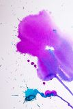 Purple pink watercolor texture Royalty Free Stock Photo