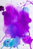 Purple pink watercolor texture. Watercolor texture with colorful blots Royalty Free Stock Image