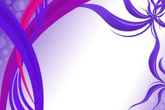 purple and pink waves, abstract background Royalty Free Stock Photos