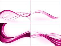 Purple pink wavy pattern Stock Images
