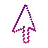 Purple pixel cursor con Royalty Free Stock Images