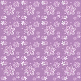Purple plants and flowers clip-art. Digital purple and white plants and flowers, clip-art Stock Photos
