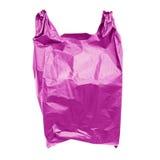 Purple plastic bag Royalty Free Stock Images