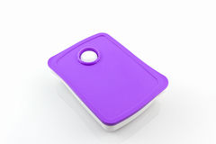 Purple Plastic box package. Stock Image