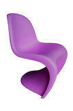 Purple Plastic Chair. Modern purple children's plastic chairs isolated over white Stock Image