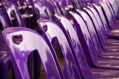 Purple plastic chairs Royalty Free Stock Photo