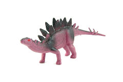 Purple plastic dinosaur toy Stock Photography
