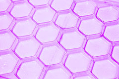 Purple plastic pattern background Stock Image