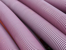 Purple plastic pipe Royalty Free Stock Images
