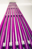 Purple plastic pipes Royalty Free Stock Photos