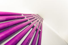 Purple plastic pipes of underfloor heating system Stock Photography