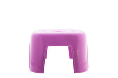 Purple  plastic small  chair on isolated white background.with Stock Image