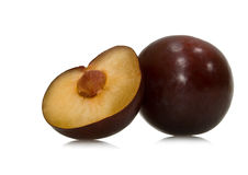 Purple plums Royalty Free Stock Photos