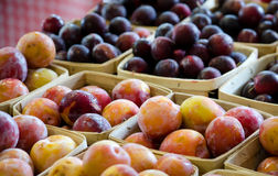 Purple Plums and peaches Royalty Free Stock Photography