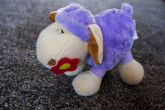 Purple plush sheep Stock Photography