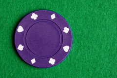 Purple Poker Chip Stock Photos