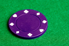 Purple Poker Chip Royalty Free Stock Photography