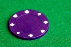 Purple Poker Chip royalty free stock photography