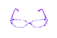 Purple Polka Dotted Glasses Royalty Free Stock Images