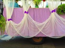 Purple Polkadot Float Royalty Free Stock Photos