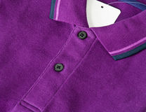 Purple Polo Shirt. Close up the men purple polo shirt Royalty Free Stock Images