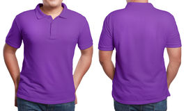 Purple Polo Shirt Design Template Royalty Free Stock Photography