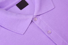 Purple Polo T-shirt. Royalty Free Stock Photo