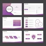 Purple polygon presentation templates Infographic elements flat design set for brochure flyer leaflet marketing Stock Image