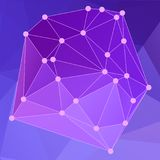 Modern abstract background triangles 3d effect glowing light106. Purple polygonal image, which consist triangles. Triangular pattern for your business design Stock Image