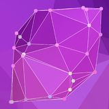 Modern abstract background triangles 3d effect glowing light104. Purple polygonal image, which consist triangles. Triangular pattern for your business design Stock Images