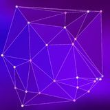 Modern abstract background triangles 3d effect glowing light99. Purple polygonal image, which consist triangles. Triangular pattern for your business design Royalty Free Stock Photos