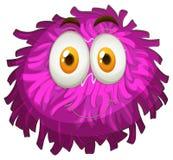 Purple pom-pom with happy face Stock Photos