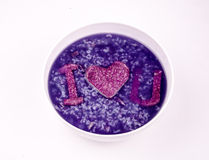 Purple potato porridge royalty free stock image