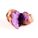 A purple potato on white background Royalty Free Stock Photos