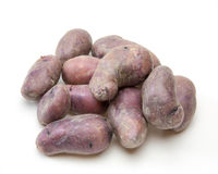 Purple potato in a white background Royalty Free Stock Image