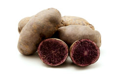 Purple potatoes Royalty Free Stock Photos