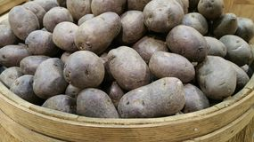 Purple Potatoes Royalty Free Stock Photography