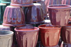Purple Pots Royalty Free Stock Photos