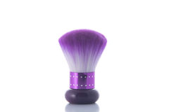 Purple powder brush Royalty Free Stock Image