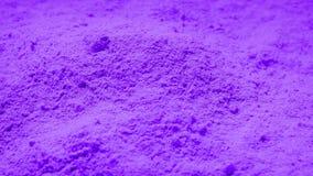 Purple Powder Rotating. Pile of purple powder turning slowly stock video footage